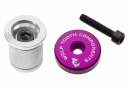 Wolf Tooth Compression Plug with Integrated Spacer Stem Cap 1 1/8'' Purple