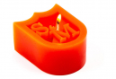 S and M Shield Wax Candle Red
