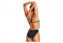 Women's Arena Tiedye Stripes One-Piece Swimsuit Black/White