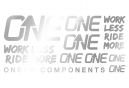 Oneup Silver Stickers Kit