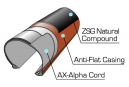 Panaracer GravelKing EXT Plus 700 mm Cubierta de grava Tubeless Ready plegable negro