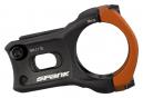 Potence Spank Split 35 mm 0° Noir / Orange