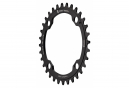 Wolf Tooth 104 BCD Chainring Drop-Stop ST for Shimano HyperGlide+ 12S Black
