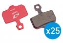 Jagwire Bulk Box Scheibenbremsbeläge für Avid DB / Elixir / XX / Sram DB Level (x25)