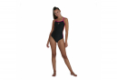 Speedo Dive Women's 1-Piece Swimsuit Thin Straps Muscleback Black Orange