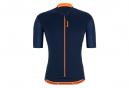 Maillot Manches Courtes Santini Gravel Bleu Nautica / Orange