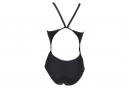 Women's Arena Team Stripe Super Fly Back One-Piece Swimsuit Black
