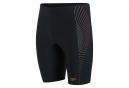 Speedo Tech Panel Jammer Swimsuit Black
