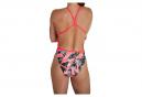 Speedo Allover V-Back Women's One Piece Swimsuit Red
