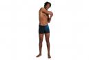 Speedo Placement Boxer Swimsuit Black / Blue