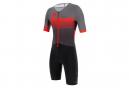 Santini X Ironman Audax Aero Short Sleeve Trisuit Black / Red