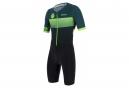 Santini X Ironman Audax Aero Short Sleeve Trisuit Black / Green