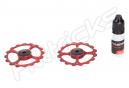 CiclismoCeramic Jockey Wheels Dura-Ace / Ultegra 10 / 11s Rojo