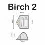 Tente Highlander Birch 2 personnes