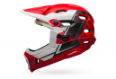 Casque avec Mentonnière Amovible Bell Super DH Mips Rouge Blanc