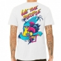 TEE SHIRT WETHEPEOPLE SOUTH BEACH WHITE WTP X FLUOR COLLAB