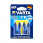 Lot de 4 piles alcaline, LR03 AAA 1.5 V high energy, VARTA .