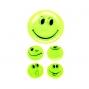5 Autocollants Smiley jaune fluo pour enfant