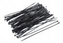 Sachet de 100 colliers rilsan noir 3,0 x 150 mm .