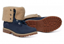Chaussures Timberland Authentics 6in Shearling Blue