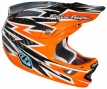 Casque intégral Troy Lee Designs D3 CARBON ZAP Orange