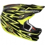 TROY LEE DESIGNS Casque D3 CARBON ZAP YELLOW Taille L