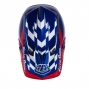 Casco integral Troy Lee Designs D3 Azul Blanco