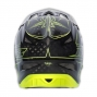 TROY LEE DESIGNS 2013 D3 Pinstripe Yellow Full Face Helmet