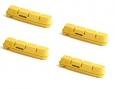 SWISSSTOP FLASH PRO Pack de 2 pares de zapatos REY Para las ruedas de carbono Sram y compatible Shimano