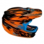Casque intégral Troy Lee Designs D3 THUNDER Orange Noir