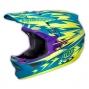 Casque intégral Troy Lee Designs D3 THUNDER Turquoise Jaune