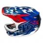 TROY LEE DESIGNS 2014 Helmet D3 Composite TEAM BLUE METAL FLAKE