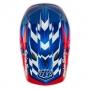 Casque intégral Troy Lee Designs D3 TEAM BLUE Bleu Rouge Blanc