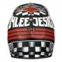 Casque intégral Troy Lee Designs D2 ACE MAT Noir Rouge