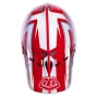 Casque intégral Troy Lee Designs D2 DELTA Blanc Rouge