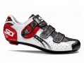 Chaussures Route Sidi GENIUS 5 FIT CARBON MEGA 2015 Blanc Rouge