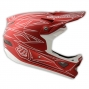 Casque intégral Troy Lee Designs D3 PINSTRIPE II COMPO Rouge