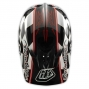 Casque intégral Troy Lee Designs D3 FINISH LINE Noir