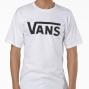 VANS T-Shirt Manches Courtes CLASSIC Blanc Noir