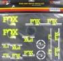 FOX Kit stickers Heritage 2015 Fourche et amortisseur Jaune