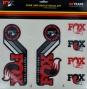 FOX RACING SHOX Kit Stickers Heritage Fourche et amortisseur Rouge