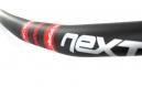 RACEFACE Cintre NEXT carbone Relevé 20 mm 31.8 mm 725 mm Noir/Rouge