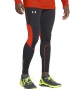 UNDER ARMOUR Legging Compression Homme RUN Noir/Rouge
