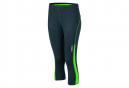 James et Nicholson collants corsaire running jogging JN481 - gris fer - vert - femme - course à pied