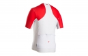 BONTRAGER Maillot Manches Court RXL SUMMER Blanc Rouge