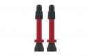 VAR Kit 2 Valves Tubeless Aluminium 35 mm Rouge