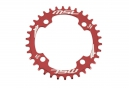MSC Chainring CNC Alu 7075 4 bolts 104mm Narrow/Wide Red