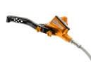 Disco de freno Hope Tech 3 V4 - Manguera trenzada naranja delantera de palanca izquierda