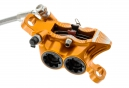 Hope Tech 3 E4 Disc Break - Rear (Left Lever) Orange Braided Hose