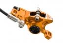 Freno de disco Hope Tech 3 X2 - Palanca trasera derecha Manguera estándar naranja